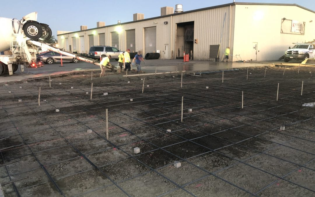 Contractor Companies Concrete Pour For Commercial Truck Wash